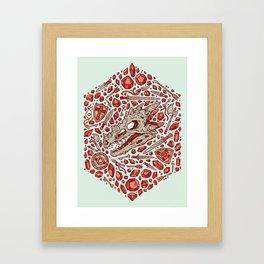 Hoard of the Gem Dragon | Ruby Framed Art Print