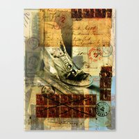 shoe Canvas Prints featuring Shoe by Echo Designlab