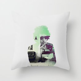 Bob Dylan Psychedelic Throw Pillow