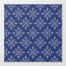 Paper Cut Snowflake Pattern Canvas Print