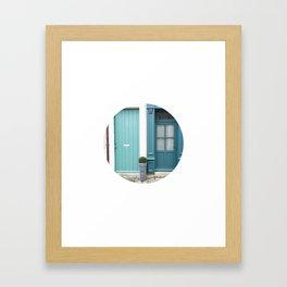 #143 — Two Blues, Two Doors — Bellême Framed Art Print