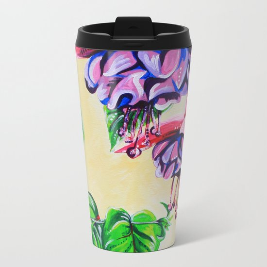 Fuchsia Metal Travel Mug