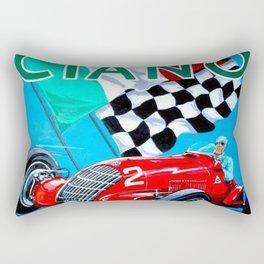 1939 Italian Grand Prix Motor Racing Coppa Ciano Alfa Corse Vintage Poster Rectangular Pillow