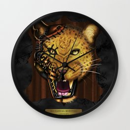 Mechanical Monsters revisited: Leopard  Wall Clock