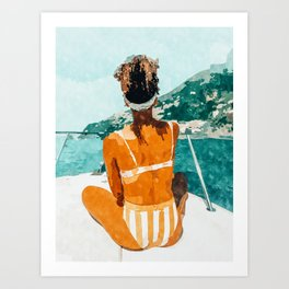 Solo Traveler Art Print