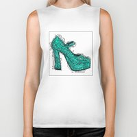 shoe Biker Tanks featuring Shoe 2 by AstridJN