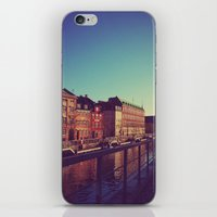 denmark iPhone & iPod Skins featuring Copenhagen Denmark 2 by ©valourine