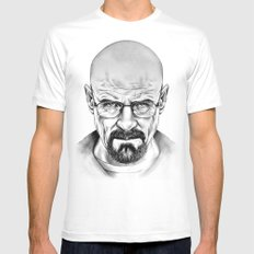 Walter White Mens Fitted Tee White MEDIUM