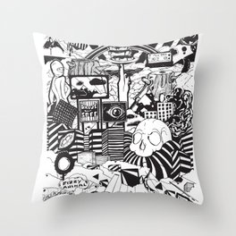 Doughnut City Throw Pillow