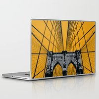 brooklyn bridge Laptop & iPad Skins featuring BROOKLYN BRIDGE by Phillip Kauffman