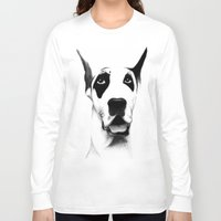 great dane Long Sleeve T-shirts featuring Great Dane  by Mr Shins