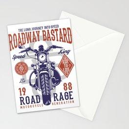 Roadway Bastard Road Rage Motorcycle Stationery Cards