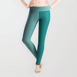 Half Turquoise Leggings