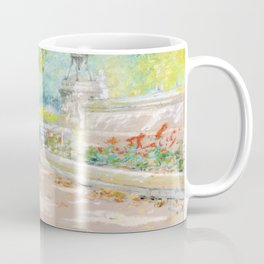 Terrace Prospect Park (1887) drawing in high resolution by William Merritt Chase Coffee Mug