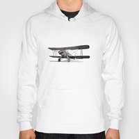 aviation Hoodies featuring Curtiss Fledgling Junior by Rik Reimert