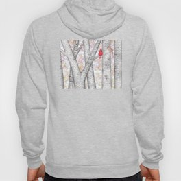 cardinals and birch trees Hoody