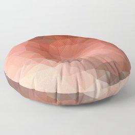 """Chocolate mousse"" geometric design Floor Pillow"