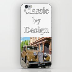 Vintage car and English Pub iPhone Skin