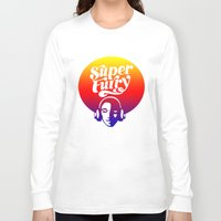 furry Long Sleeve T-shirts featuring SUPER FURRY by BerkKIZILAY