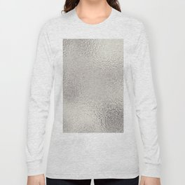 Simply Metallic in Silver Long Sleeve T-shirt