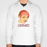 grimes Hoodies featuring Grimes by caxcma