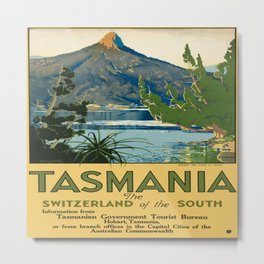Vintage poster - Tasmania Metal Print