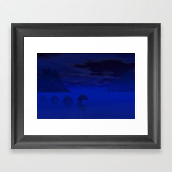 Midnight on the Loch Framed Art Print