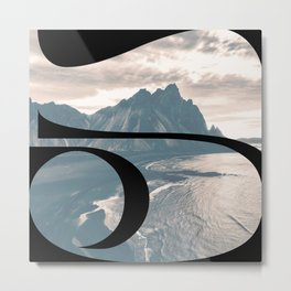 Nr. 5 | Numbers with a View | Typography Letter Art Metal Print
