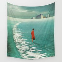 cities Wall Tapestries featuring Waiting For The Cities To Fade Out by Frank Moth