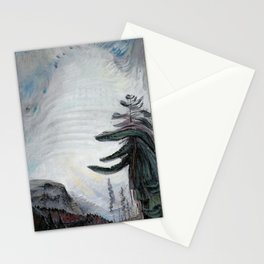 Emily Carr - Fir Tree and Sky - Canada, Canadian Oil Painting - Group of Seven Stationery Cards