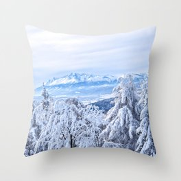 White out #mountains #winter Throw Pillow