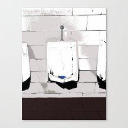 Public Bathroom Urinal Painted Photograph Canvas Print
