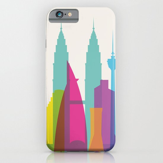 Shapes of Kuala Lumpur. Accurate to scale iPhone & iPod Case