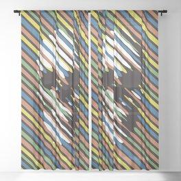Stripe Skull Sheer Curtain