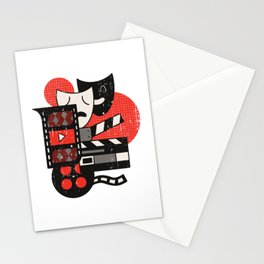 Abstract Acting Theatre Movie Design Stationery Cards