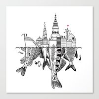 copenhagen Canvas Prints featuring Copenhagen by CAB Architects