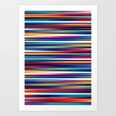 Blurry Lines Art Print