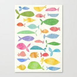 Fish family Canvas Print