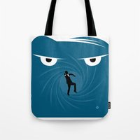 skyfall Tote Bags featuring SKYFALL by Alain Bossuyt