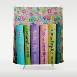 Jane Austen Library Shower Curtain