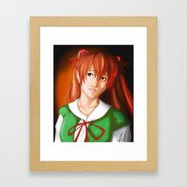 Asuka in School Uniform Framed Art Print