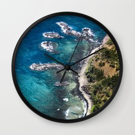 Exotic Tropical Coastline With 'Fingers' of Rock Islands Wall Clock