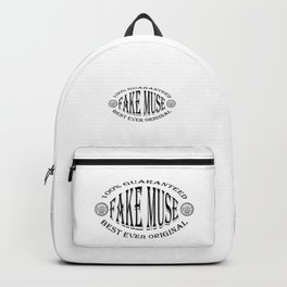 Fake Muse badge (black) Backpack