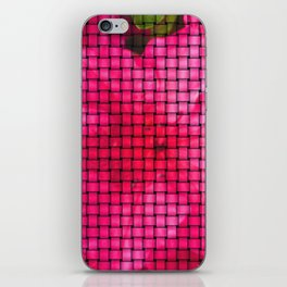 flowing flower pink iPhone Skin