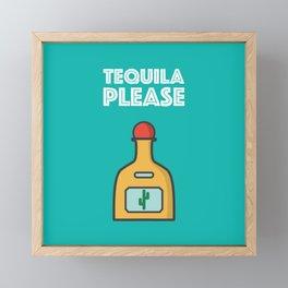 Tequila Please Framed Mini Art Print