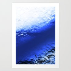 Blue Waves Art Print