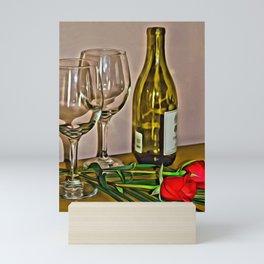 Anniversary - wine and roses Mini Art Print
