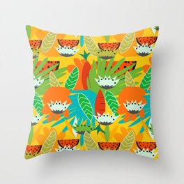 Watermelons and carrots Throw Pillow