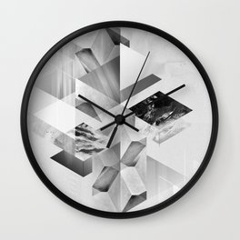 geometric woman III Wall Clock
