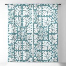 (Taigā Masuku – Tiger Mask) PATTERN/GREEN ORNAMENT Sheer Curtain